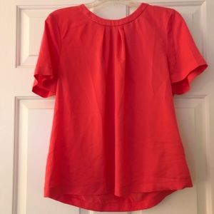 Hot pink Jcrew polyester shirt with open back